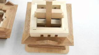 Kumiki/interlocking Puzzle Of Three-story Pagoda-trad Japan-