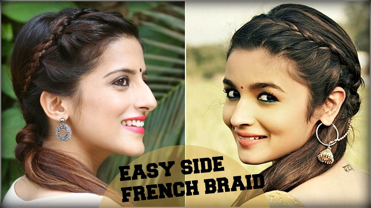 cute & easy everyday side french braid ponytail for school, college