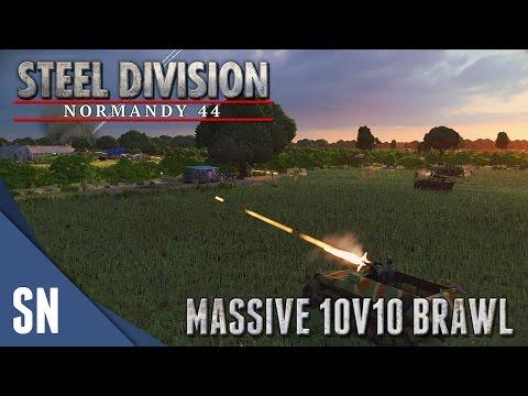 10v10 BRAWL! - Steel Division: Normandy 44 - 10v10 Gameplay