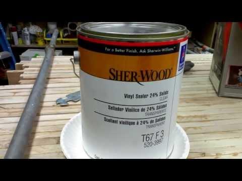 Sealing MDF With SHER-WOOD Vinyl Sealer