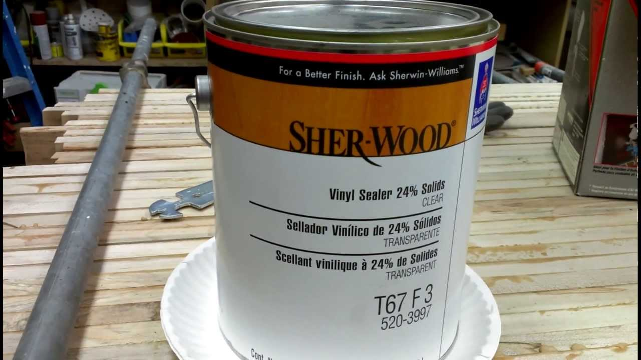 Sealing Mdf With Sher Wood Vinyl Sealer Youtube