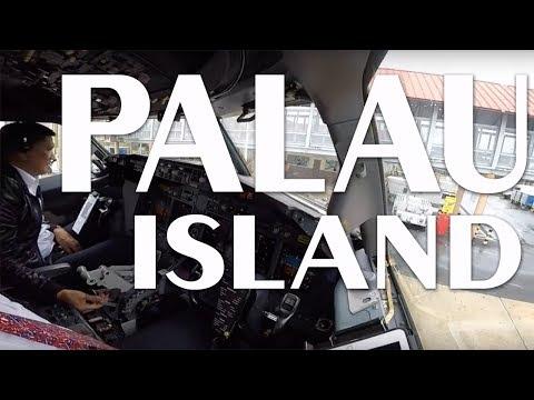 Cockpit View - Landing & Take Off @ Palau Island