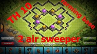Clash of Clans - *NEW* TH10 farming Base with 2 Air Sweepers