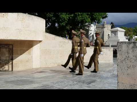 Changing of the Guard, Santa Ifigenia Cemetery, Santiago de Cuba 18 March 2017