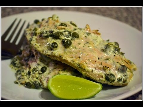Baked Salmon With Sour Cream
