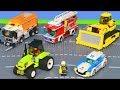 Traktör, Vinç, Ekskavatör ve Yeni - Itfaiyeci oyuncak - polis arabası Çocuk Oyuncakları