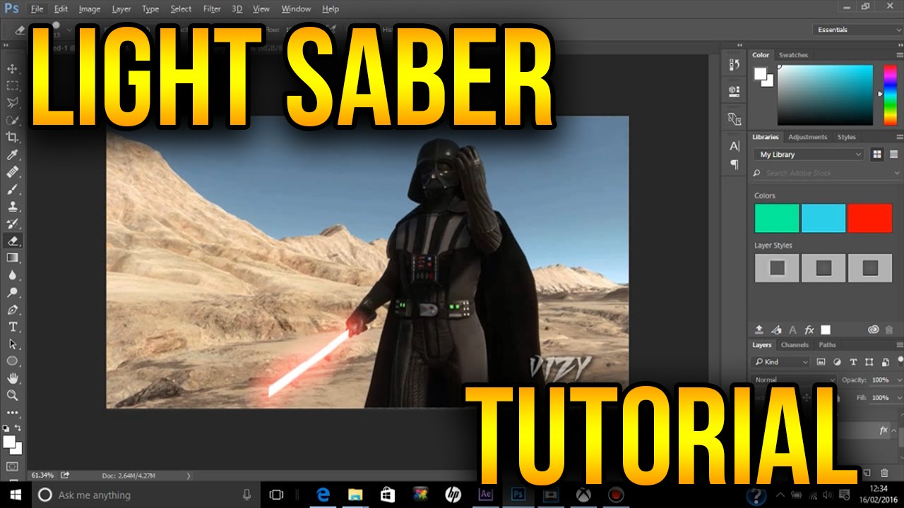 Darth vader lightsaber tutorial photoshop youtube darth vader lightsaber tutorial photoshop baditri Images