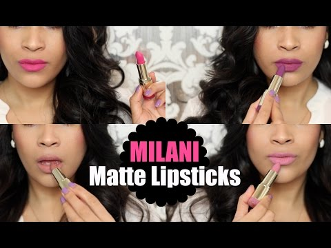 Milani Matte Lipsticks Review & Swatches - Try On NC35 - MissLizHeart