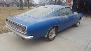 1st drive in 27 years 1969 Plymouth Barracuda 383 4 speed GARAGE FIND