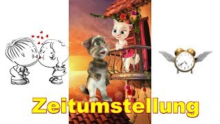 😤 Zeitumstellung Sommerzeit - Winterzeit Uhren 😤 😤 Talking Tom & Angela sprechende Katze