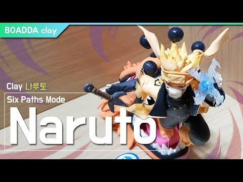 DIY┃ Naruto Uzumaki (Six Paths Mode) - super light clay Tutorial ┃Clay Figure┃BOADDA clay