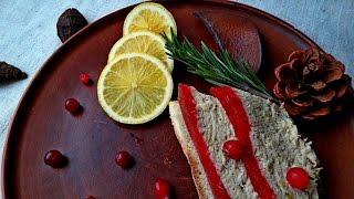 Паштет из Курицы с Клюквенным Желе / Chicken Pate with Cranberry Jelly