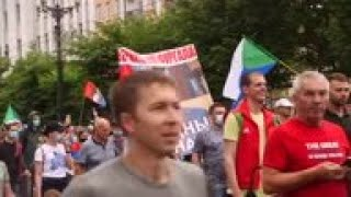 Russians protest regional governor's arrest