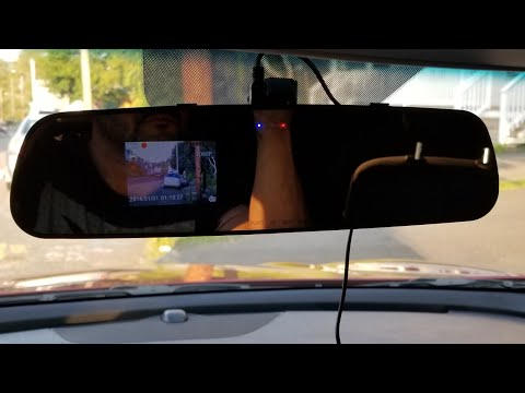 Rear View Mirror DashCam Recorder Review/Test