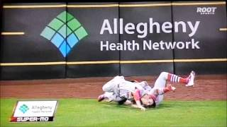 Worst Collision In MLB I Have Seen, Cardinals Vs. Pirates