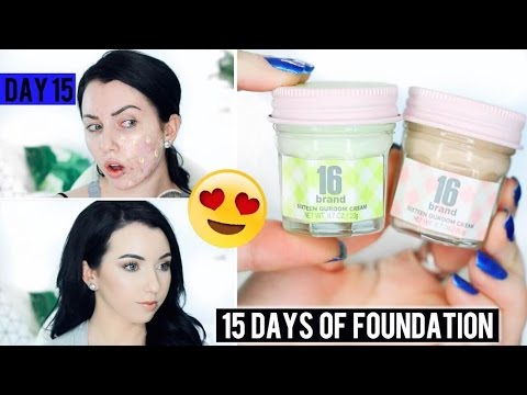 FOUNDATION IN A JAR?! 16 Guroom Cream {First Impression Review & Demo!} 15 DAYS OF FOUNDATION