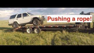 Winch a car OFF a trailer!