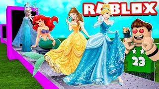 MY OWN FACTORY OF DISNEY PRINCESSES in ROBLOX!!