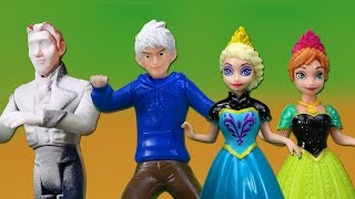 Frozen Elsa y Jack Frost Congelan a Hans y deciden Casarse con Anna y Krsitoff
