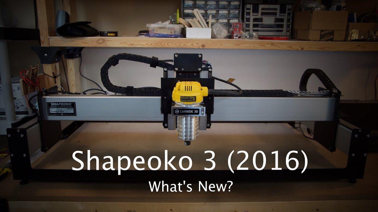 Shapeoko 3 (2016): What's New?
