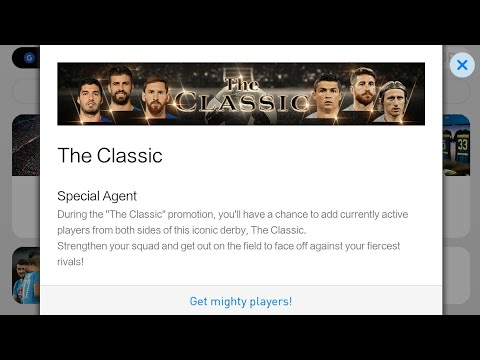 The Classic Barcelona & Real Madrid Box Draw PES 2018 Mobile