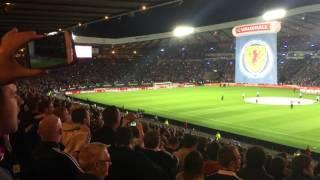 Scotland vs Poland Euro 2016 national anthems 08/10/2016 Hampden Park