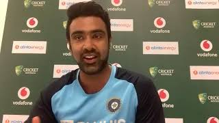 R Ashwin addressed the media after the fourth day's play of the 3rd against