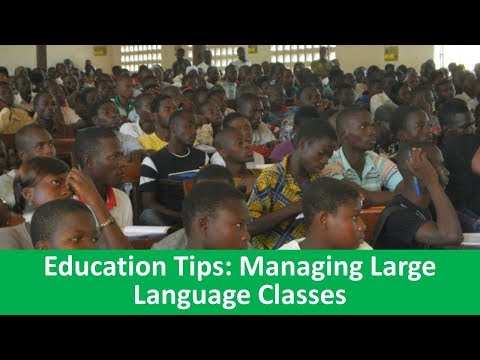 Learn English with VOA News - Education Tips: Managing Large Language Classes