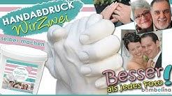 bambelina  3D Handabdruck, Paar Gipsabdruck Hände Erwachsene, hand casting, selber machen, tutorial