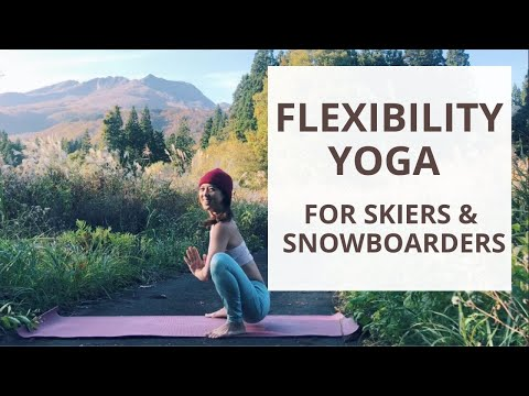 Flexibility yoga for snowboarders and skiers