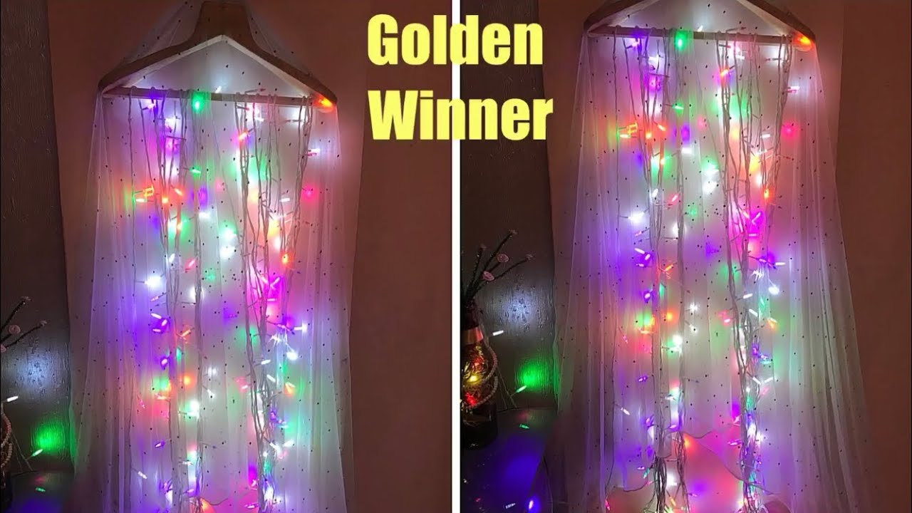 DIY Lighting Decoration | Home Decor | Light decoration for festivals
