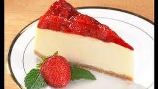 How To Make The easiest CheeseCake اسهل طريقة لعمل تشيزكيك الفراولة