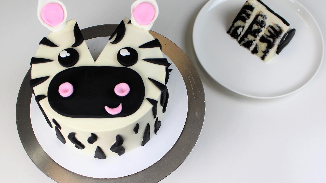 How to Make A Zebra Cake CHELSWEETS YouTube