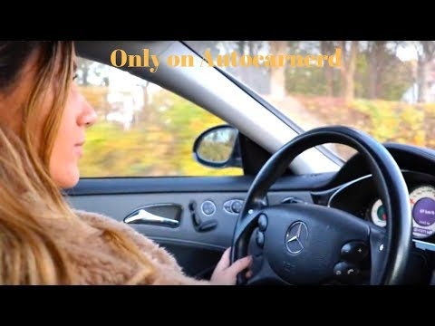 Crazy Girl Driving Mercedes AMG