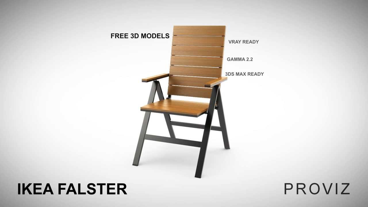 Free 3d Models Ikea Falster Outdoor Furniture Series Youtube