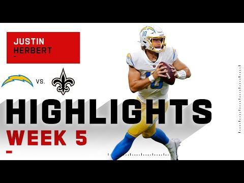 Justin Herbert WOWs w/ 4 TDs vs. Drew Brees   NFL 2020 Highlights