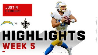 Justin Herbert WOWs w/ 4 TDs vs. Drew Brees | NFL 2020 Highlights