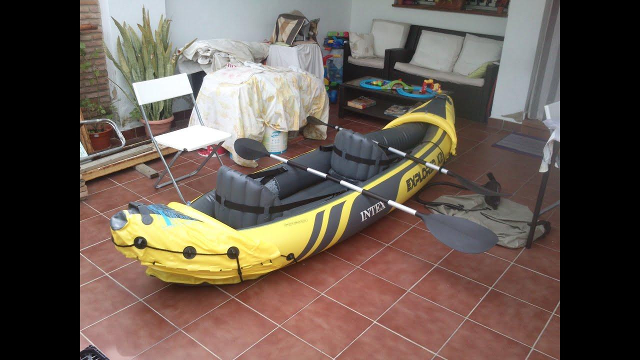 Estrenando Kayak hinchable (02/04/2016)   Trayecto 1 - YouTube
