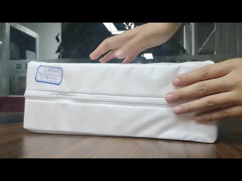 Velcro Cover Zipper Protection Display 6 Side Waterproof Mattress Encasement.