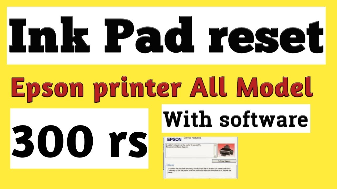 10 29 MB] Epson Ink Pad Reset ALL Model || L210,220,360,380,455