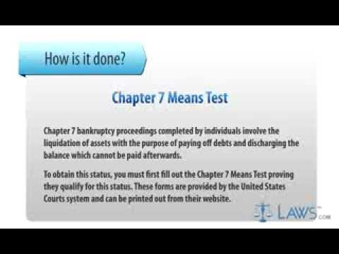 chapter 7 means test - YouTube