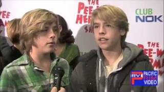 Dylan and Cole Sprouse at Pee Wee Herman