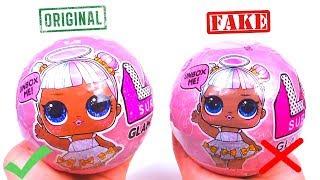 Куклы ЛОЛ ОРИГИНАЛ и китайская ПОДДЕЛКА шары сюрпризы СРАВНЕНИЕ Fake LOL GLAM GLITTER Dolls Surprise