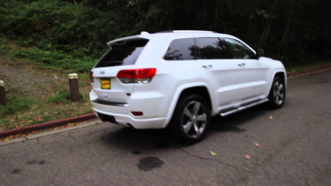 2015 Jeep Grand Cherokee Overland White Fc613786