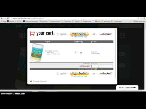 How To Add A Coupon Code to Health Kismet Shopping Cart