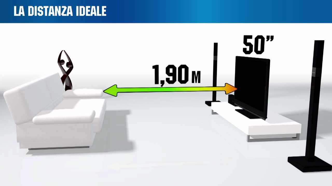 Distanza migliore dove posizionare la tv dal divano - Posizione divano e tv ...