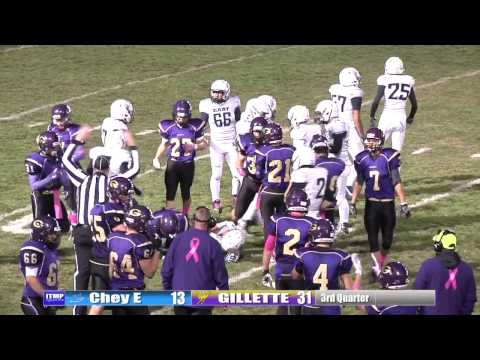 2016 HS Football Highlights - Gillette vs Cheyenne East 10/21
