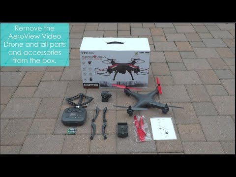 Vivitar AeroView Video Drone (DRC-446) Unboxing and Assembly Tutorial