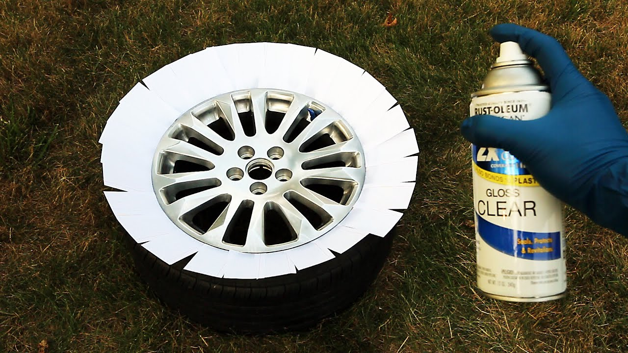 Tire Rim Paint Removal