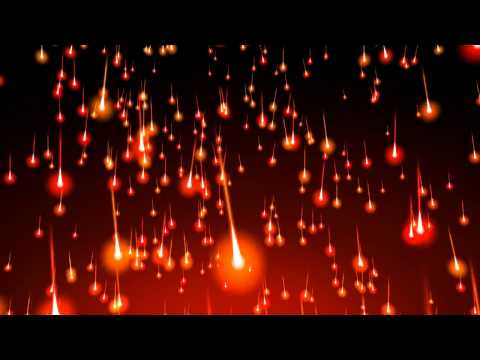4K 60fps ~Falling Fire Comets Effect~ 2160p Motion Background AA VFX music